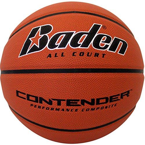 Baden Contender Official Wide Channel Basketball Natural Orange Color 295Inch