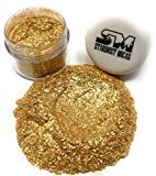 Biodegradable Gold Flake Glitter, Gold Mica Flakes, Metallic Gold Glitter Pigment Flake for Resin Making, Gold Cosmetic Grade Mica Gold Craft Glitte (Gold Sparkle, 10 Gram Jar)