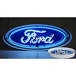 Neonetics 5FOVCN Oval Ford Neon Sign in Metal Can