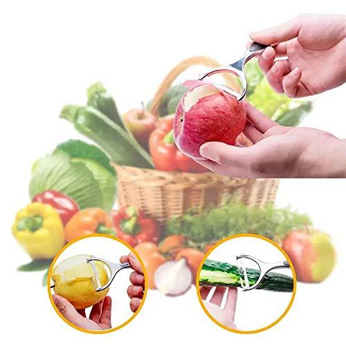 Potato Vegetable Peeler for Kitchen - Premium Stainless Steel Y Shape Swivel Peelers for veggie,potatoes, Carrot, Fruit, with Ergonomic Non-Slip Handle