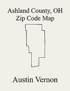 Ashland County, Ohio Zip Code Map: Includes Perry, Sullivan, Ashland, Green, Orange, Hanover, Jackson, Lake, Mohican, Vermillion, Clear Creek, Mifflin, Milton, Ruggles, Troy, and Montgomery