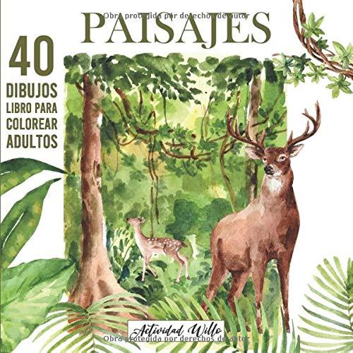 Paisajes para Colorear Adultos: Dibujos para Pintar o Colorear | Libro Antiestres para Colorear | Colorear Naturaleza Montañas Bosques Llanuras ... Coloreando | Arteterapia para Adultos.