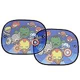 Plasticolor Marvel Kawaii Superheros Side Window Sunshade - Auto Car Truck SUV Vehicle - Pop Up Style - Pair