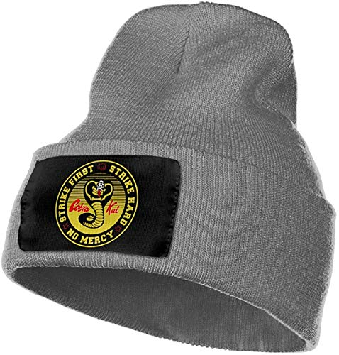 Asidwu Mens & Womens Cobra Kai Karate Kid Skull Beanie Hats Winter Knitted Caps Soft Warm Ski Hat,Deep Heather,One Size