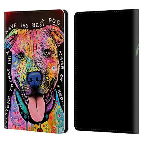 Head Case Designs Officially Licensed by Dean Russo Best Dog Dogs 3 Leather Book Wallet Case Cover Compatible with Kindle Paperwhite 1/2 / 3