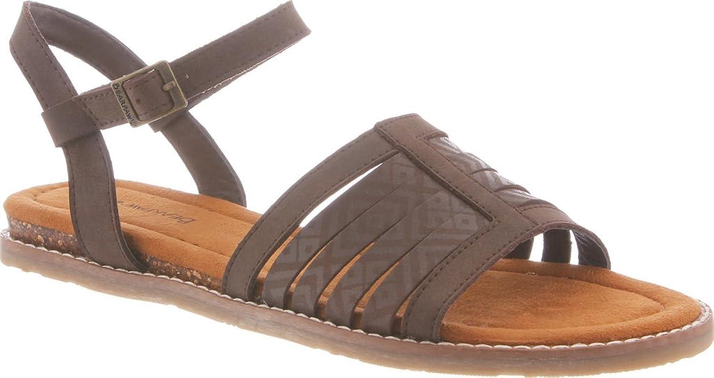 Bearpaw Women's Leona Comfort Microsuede, Rubber Sandals