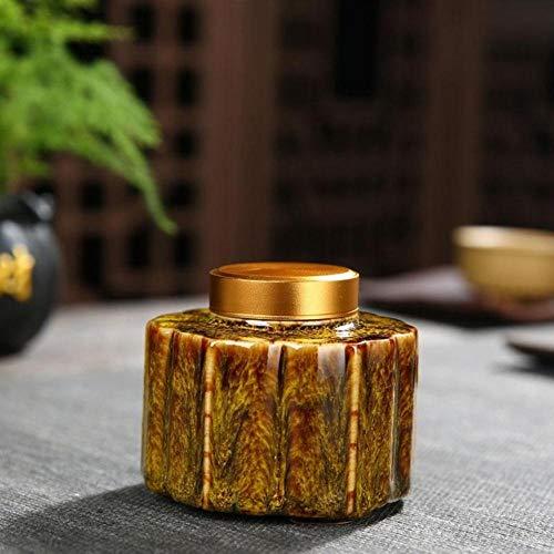 Houer Chinese Tea Caddies Grüner Schwarzer Tee Box Caddies Keramik Tee Lagerung Kaffeepulver Teebehälter, g