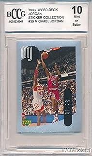 243cd0eca7453d 1998 Upper Deck Michael Jordan Sticker Graded HIGH BECKETT 10 MINT! Awesome  HIGH GRADE Card