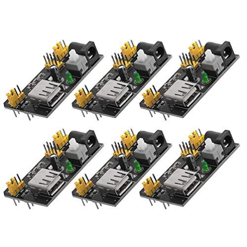 Housoutil 6Pcs Mb102 Steckbrett-Stromversorgungsmodul 3. 3V 5V Netzteilmodul für 6. 5-12V MB102 Steckbrett-Gleichstromnetzteil