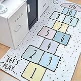 CMwardrobe Kinder Antirutsch Teppich Spielteppich Moderner Spielteppich Kinderzimmer Digitale Kontrolleure Ultrasoft Kurzflor Babydecke Matte 120x160CM