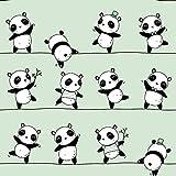 Pingianer Jersey Stoff Panda Meterware 9,69€/m² 94%