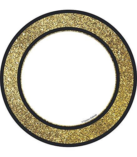 Carson Dellosa – Gold Glitter Dots Colorful Cut-Outs, Classroom Décor, 36 Pieces