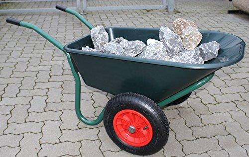 TrutzHolm® 2-Rad Schubkarre Basic PP Gartenschubkarre Schiebkarre Gartenkarre 100l 160kg - 3