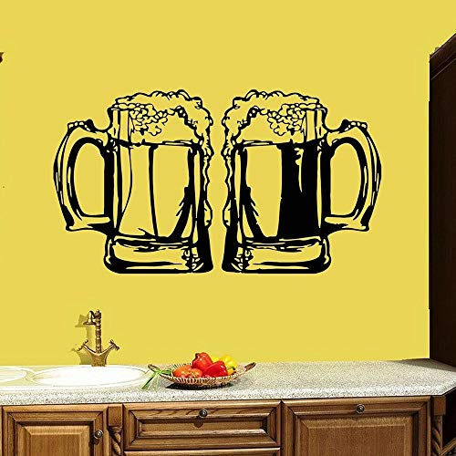 WERWN Etiqueta de la Pared de la Taza de la Barra Etiqueta de la Ventana de la Cerveza de la Barra Etiqueta de Vinilo de la Taza de la Bebida Fina Cocina Decoración del hogar