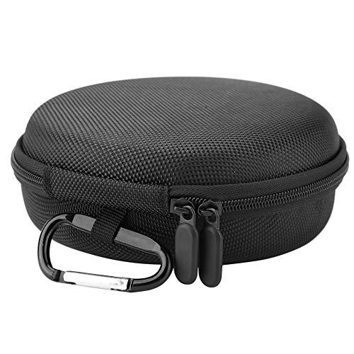VBESTLIFE Bluetooth-Lautsprecherhülle, Tragbare Mini-Runde Bluetooth-Lautsprecher Reise tragen Tasche für B & O BeoPlay A1 Wireless-Lautsprecher mit Karabiner, schwarz