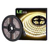 LE Tira LED, Tira Luz 5m 300 LED 5050, Blanco Cálido 3000K No Impermeable, Con DC Enchufe, 3600 Lúmenes, Luz tira para Techo,...