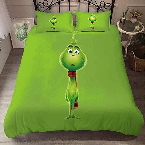 CCBZLY Juego de ropa de cama con impresión digital 3D, con 1 funda nórdica y 2 fundas de almohada, regalo para niños (M7,200 x 200 cm + 2 x 80 x 80 cm)