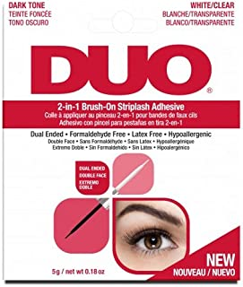 DUO Adhesives, 2-in-1 Brush On Clear & Dark Adhesive
