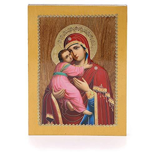 Holyart Russische Ikone, Gottesmutter von Wladimir, 20x15 cm