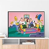 LDTSWES Simpson Puzzle Jigsaw Puzzles, Madera Comedia animación ensamblar Rompecabezas 1000 Piezas, para el hogar Exquisito embellecer DIY Rompecabezas