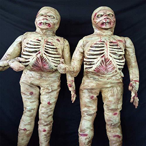 QHWJ Scheletro di Mummia di Halloween, Carne Marcia Sanguinolenta Persona Reale Proporzione Decorazione Esterna Teschio Cadavere Oggetti di Scena Horror, Bar Infestato Bar KTV Party Room Escape Game