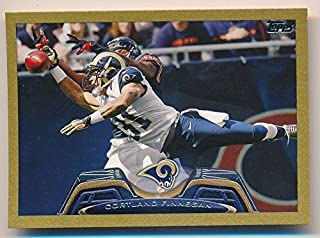 CORTLAND FINNEGAN 2013 TOPPS MINI #307 GOLD PARALLEL ST LOUIS RAMS SP #53/58