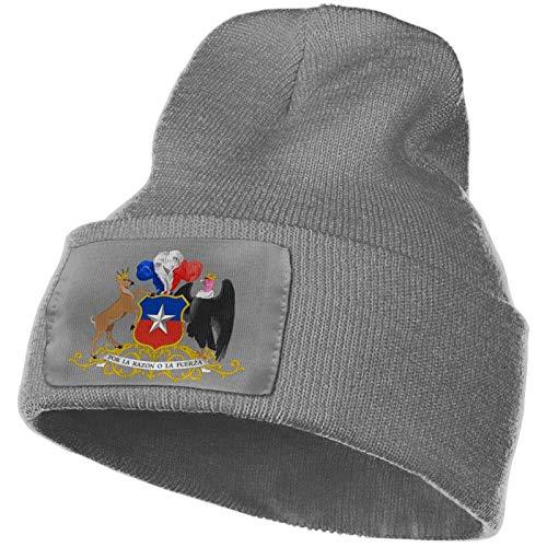 Escudo de Chile Cálido Invierno Tejer Sombreros Wrap Yarn Clásico Hombre Unisex Slouchy Beanie Hat