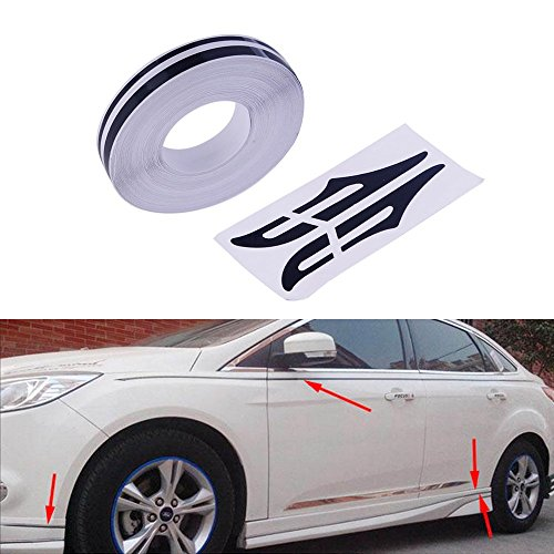 """PME 12mm 0.5"""" Pinstripe Pinstriping Pin Stripe Decals Vinyl Tape Stickers for Cars (Black)"""