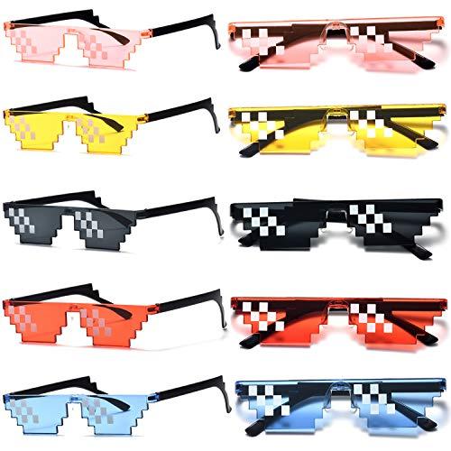 Unisex-Sonnenbrille, 8 Bits, Mosaik, MLG Foto-Requisiten, (mix), Einheitsgröße