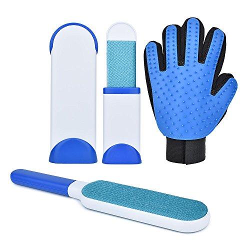 Slowton Conjunto de guantes removedores para Mascota, cepillo de aseo personal, cepillo de pelo…
