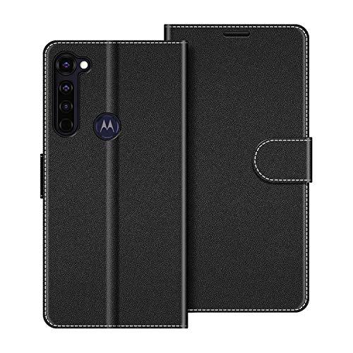 COODIO Handyhülle für Motorola Moto G Pro Handy Hülle, Motorola Moto G Pro Hülle Leder Handytasche für Motorola Moto G Pro Klapphülle Tasche, Schwarz