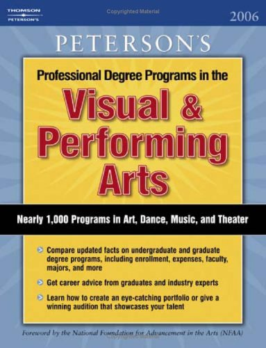 Visual Performing Arts 2006 Guide To Petersons College Guide For Visual Arts Majors