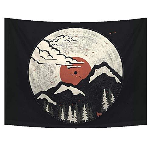 PYHQ Japanischer Abstrakter Berg Wandteppiche Wandbehang Tapisserie Malerei Kunst für Wohnzimmer, Schlafzimmer, Wohnheim, Küche, Garten, Wohnheim, Loft Dekoration