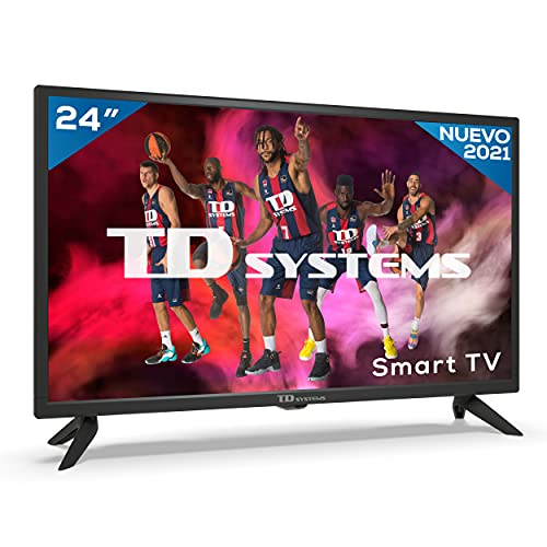 TD Systems K24DLG12HS - Televisores Smart TV 24 Pulgadas HD Android 9.0 y HBBTV, 800 PCI Hz, 2X HDMI, 2X USB. DVB-T2/C/S2, Modo Hotel. Televisiones
