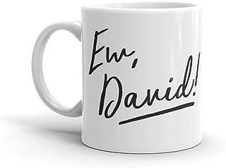 Ew, David! - スクリプト ブラック 11オンス マグは誰にとっても最高の贈り物になります。 光沢セラミックマグカップ 11オンス コーヒー愛好家へのギフト