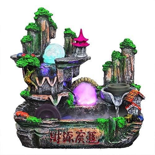 Interior de la Fuente de Agua de Mesa humidificador, Mini cascadas de montaña de Atomización Roquerío pequeñas con Agua Corriente for Office, Home Decor, Dormitorio, Regalo de Escritorio WTZ012