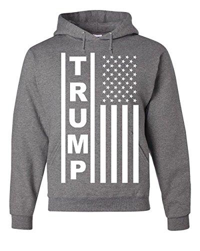 Tee Hunt Trump Flag MAGA Republican Hoodie President USA Republican Political Gray XL