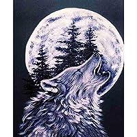 1000ピ 木製 ジグソーパズル おもちゃ パズル ギフト-オオカミの呼び声(50x75cm)