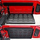 Bosmutus Multi-Purpose Tailgate Table Rear Foldable Back Shelf Compatible with Jeep Wrangler TJ JK JKU 1996-2017 2/4 Door Rubicon Sahara Sport Accessories 75lbs/34kg Load Capacity【Aluminum Alloy 】