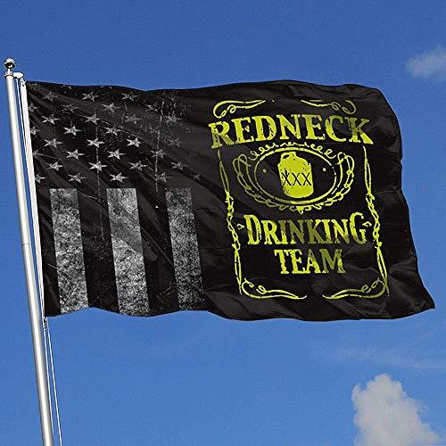 wallxxj Home Flag Abgenutzte Usa Flagge Redneck Drinking Team Bunte Outdoor Indoor Sport Hockey Baseball Home Decor Hübschen Basketball 90X150Cm Druck