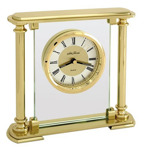Seth Thomas Mirage Gold-Plated Brass Table Clock