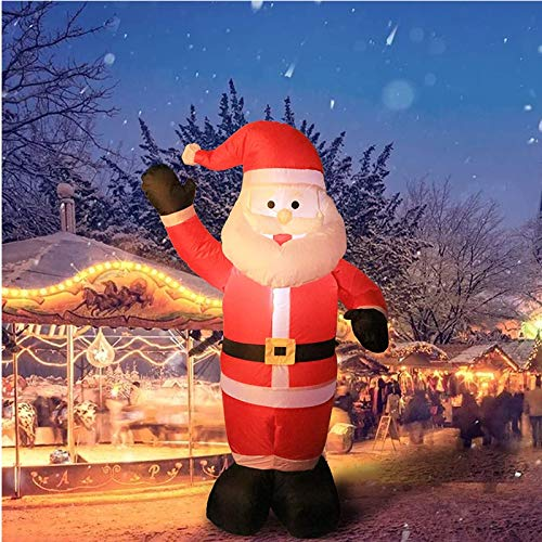 wolketon Inflatable Santa Claus LED Light Up Giant Christmas Xmas 7.9 ft Inflatable Santa Claus for Blow Up Yard Decoration Indoor Outdoor Garden Christmas Decoration
