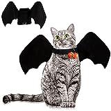 BESTZY Alas de Mascota de Halloween, Murciélago de Disfraz de Gato Mascota, con Campana de Calabaza, Decoración de Fiesta de Halloween, Disfraz de Juego de Roles para Mascotas