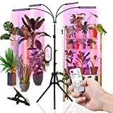 Grow Lights, COOKSIST Full Spectrum Plant Light for Indoor Plants, Stand & Clip, Upgraded Appearance, 63 Inch Adjustable Tripod, Dual Controllers, Timing Functions, 10 Dimmable Levels