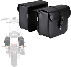 Motorcycle Saddle Bags Saddlebags Leather PU for Honda Suzuki Yamaha Sportster Softail Dyna Scooter Panniers