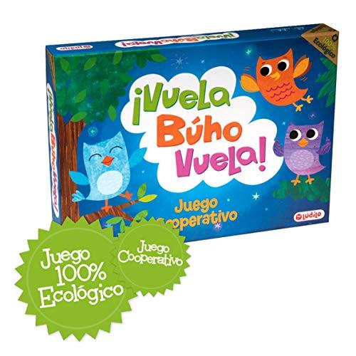 ¡Vuela Búho Vuela! Juego de mesa para niños cooperativo, Juego ecológico totalmente...
