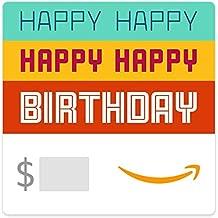 Amazon eGift Card - Happy Happy Birthday