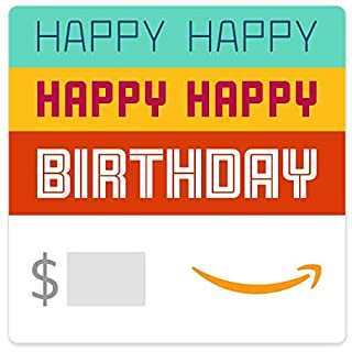 Amazon eGift Card - Happy Happy Birthday (B07X1HK6GC) | Amazon price tracker / tracking, Amazon price history charts, Amazon price watches, Amazon price drop alerts