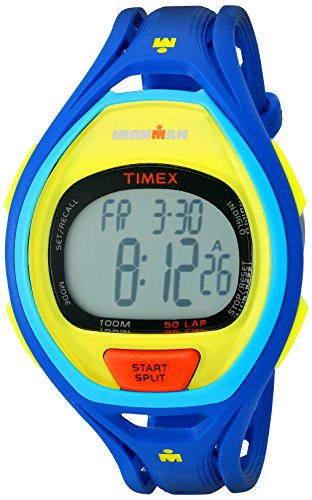 Timex Unisex TW5M01600 Ironman Sleek 50 Color Block Blue Resin Strap Watch