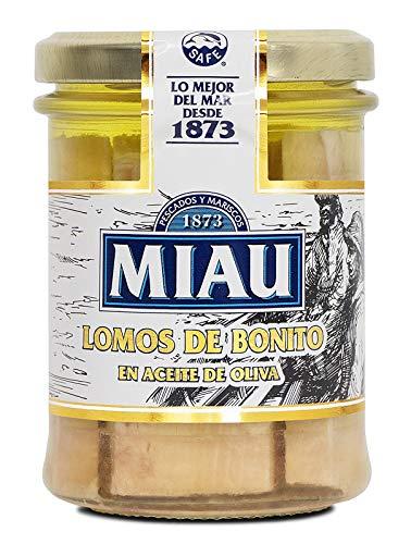 MIAU Lomos de Bonito en Aceite Oliva - Paquete de 24 x 190 gr - Total: 4560 gr